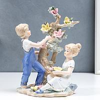 Сувенир керамика 'Детишки у цветочного дерева' 25 см