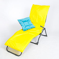 Подушка-матрас водоотталкивающ. 190х60х3,5см, жёлтый