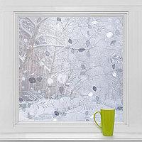 Витражная плёнка 'Листики', 45x200 см, цвет прозрачный