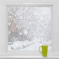 Витражная плёнка 'Орнамент', 45x200 см, цвет белый