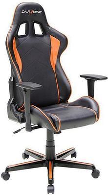 Кресло игровое компьютерное DXRacer Formula OH/FH08/NO, регулировка высоты, подлокотник,90 кг, Black-Orange