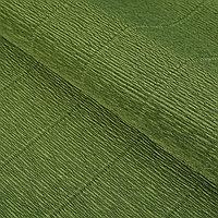 Бумага гофрированная, 'Оливковый зелёный' 17А/8, 0,5 х 2.5 м