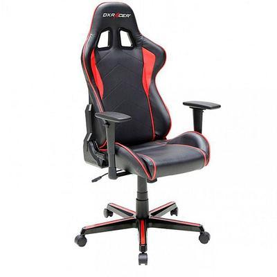 Кресло игровое компьютерное DXRacer Formula OH/FH08/NR, рег. высоты, подлокотник,90 кг, Black-Red