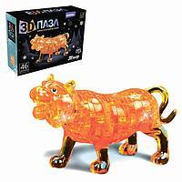 Пазл 3D 'Волшебный тигр', 46 деталей