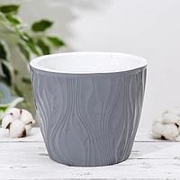 Кашпо со вставкой 'Венеция', 3 л, цвет серый
