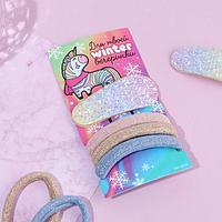 Набор резинки и заколка 'Для твоей winter вечеринки', 11,5 х 6 см