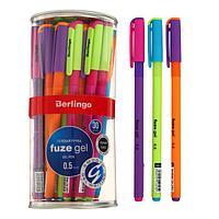 Ручка гелевая Berlingo 'Fuze gel', 0,5мм, черная, корпус микс 308001 (комплект из 30 шт.)