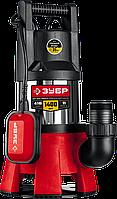 ЗУБР НПГ-М3-1400-С, дренажный насос для грязной воды, корпус - нерж. сталь, 1400 Вт