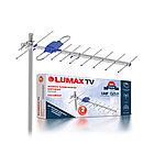 Антенна телевизионная наружная пассивная, LUMAX, DA2201P, Алюминий + ABS-пластик, Ку до 11 дБ