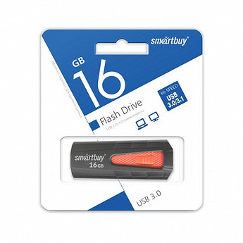 USB 3.0 накопитель Smartbuy 16GB IRON Black/Red