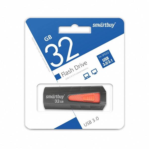 USB 3.0 накопитель Smartbuy 32GB IRON Black/Red