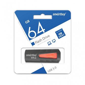 USB 3.0 накопитель Smartbuy 64GB IRON Black/Red