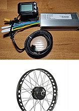 """Электрокомплект для Fat Bike. Мотор-колесо MXUS 48v 500w 20*4"""". Контроллер 48  500w, дисплей LCD S5 с курком"""