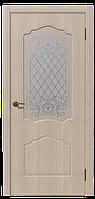 Дверь межкомнатная Боненти, Коллекция Венто 600, Дуб белёный, Остекленное