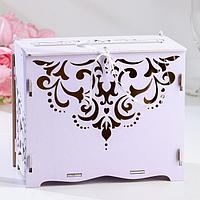Коробка для денег Семейный банк для сбора денег Кристалл 21 х 13 х 18 см