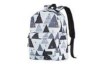Рюкзак 2Е, TeensPack Triangles, белый