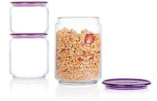 Набор банок для сыпучих продуктов Luminarc Plano Purple N3453 3 шт