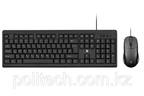 Проводной комплект 2E MK401 USB Black