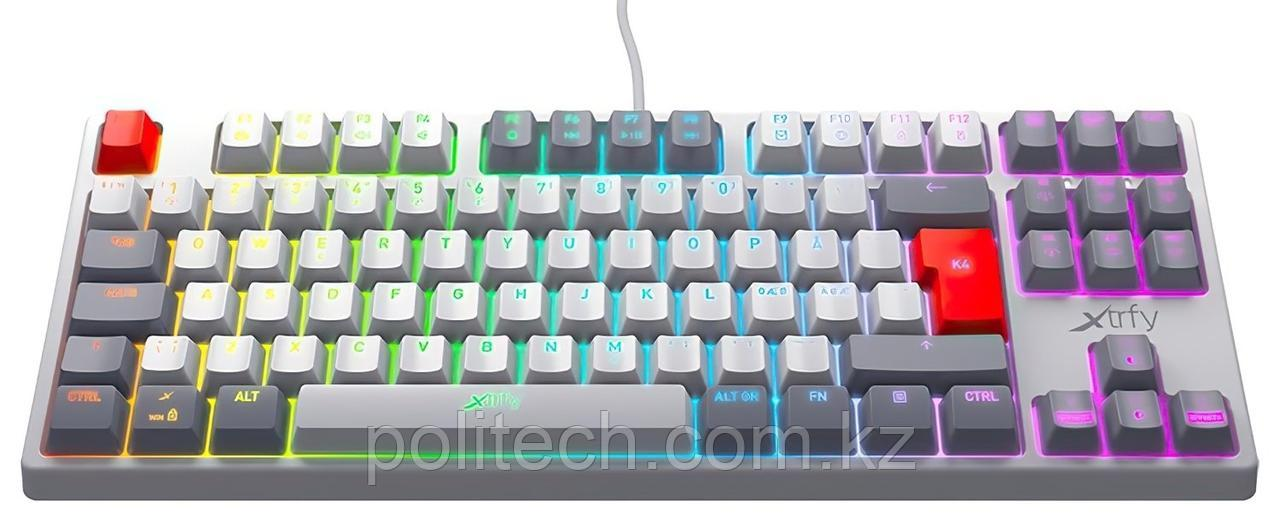 Клавиатура игровая Xtrfy K4 TKL RGB Kailh Red, RU, Retro