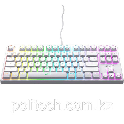 Клавиатура игровая Xtrfy K4 TKL RGB Kailh Red, RU, White