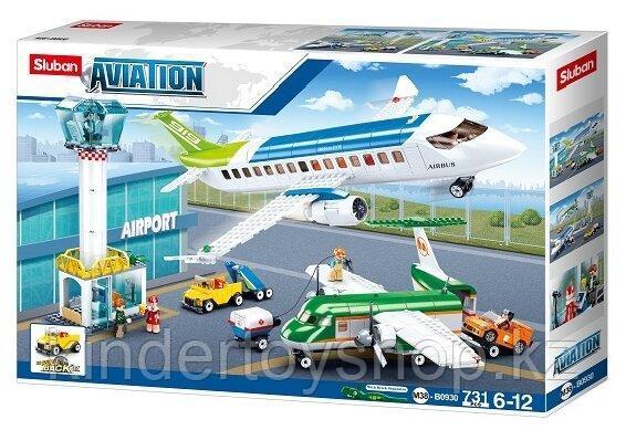 Конструктор SLUBAN Авиация M38-B0930 Аэропорт аналог лего lego Самолеты большой набор 731 деталь