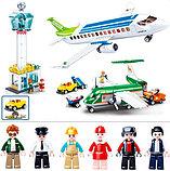 Конструктор SLUBAN Авиация M38-B0930 Аэропорт аналог лего lego Самолеты большой набор 731 деталь, фото 3