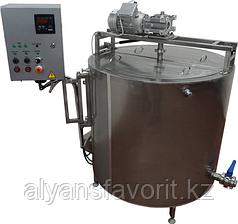 Ванна длительной пастеризации (ВДП 350 литров, паровая, откидная рама) ИПКС-072-350МП(Н)