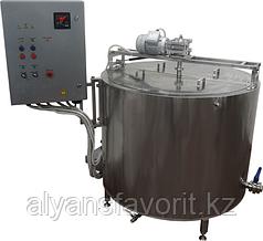Ванна длительной пастеризации (ВДП 630 литров, паровая, откидная рама) ИПКС-072-630МП(Н)