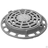 Люк полимерпесчаный дождеприемник круглый С-250 630/800 черный