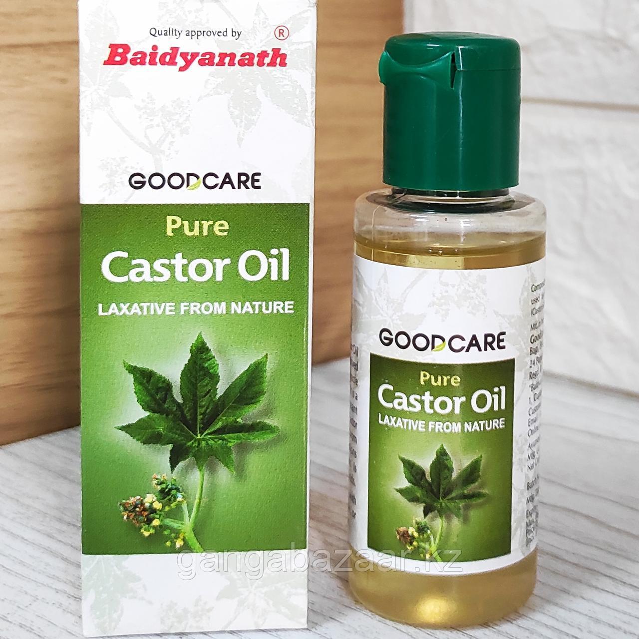 Касторовое масло Castor Oil, Goodcare Baidyanath - чистое натуральное масло холодного отжима,  50 мл