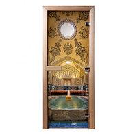 Стеклянные двери с фотопечатью Хаммам
