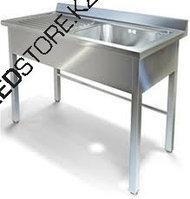Мойка хирургическая 1-местная с рабочей поверхностью стола(1200х700х850мм)из нержавеющей стали AISI 304 с