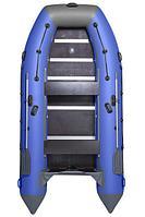 Надувная лодка ПВХ, Адмирал 380, светло-серый/синий FR-00000310_LG-BL