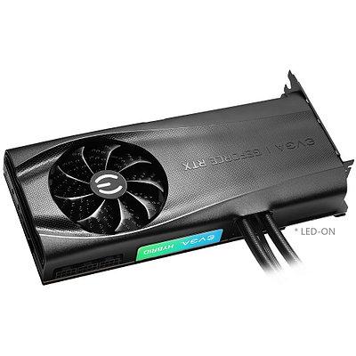Видеокарта EVGA RTX 3080Ti FTW3 Ultra Hybrid, GeForce RTX3080Ti, 1800MHz/19GHz, 384bit, 12Gb GDDR6X, HDMI, 3xD