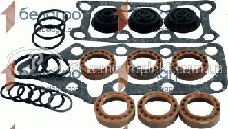 Ремкомплект гидрораспределителя Р80 3/1-222,444 МТЗ,ЮМЗ, ДТ-75 (пластм. кольц.) (РК302)