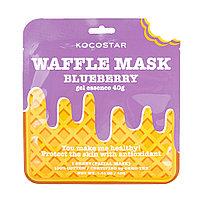 Kocostar, противовоспалительная вафельная маска для лица «Черничное наслаждение», сыворотка 40 гр