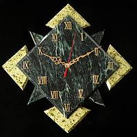 """Часы настенные """"Звездный квадрат"""" , 32х32х4,5 см, змеевик"""