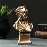 Бюст Пушкина 7х14см, бронза / мраморная крошка