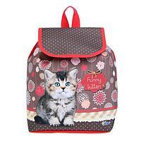 Рюкзак детский, «Оникс», СР-01 29х22х13,5 см, Funny kitten
