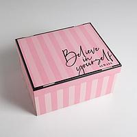 Коробка складная 'Для тебя', 31,2 х 25,6 х 16,1 см