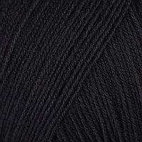 Пряжа 'Элитная' 100 мериносовая шерсть 415м/50гр (02-чёрный)