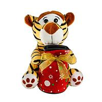 Мягкая игрушка-копилка 'Тигр', 14 см, цвета МИКС