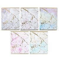 Тетрадь 96 листов клетка 'Нежные лилии', обложка мелованная бумага, золото, МИКС (комплект из 5 шт.)
