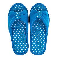 Тапочки женские цвет голубой, размер 38-39