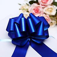 Бант-шар 5 металлик, цвет синий (комплект из 20 шт.)