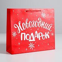 Пакет ламинированный горизонтальный 'Новогодний подарок', M 30 x 26 x 9 см