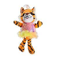 Мягкая игрушка 'Тигрица в платье', на присоске, цвета МИКС