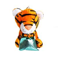 Мягкая игрушка 'Тигр с подарком', на брелоке, цвета МИКС (комплект из 12 шт.)