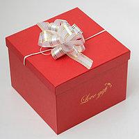Бант-шар 3 золотая полоса, белый (комплект из 20 шт.)