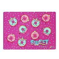 Накладка на стол пластиковая А4, 339 х 244 мм (+/- 5 мм), 500 мкм, для девочки 'Модные пончики'